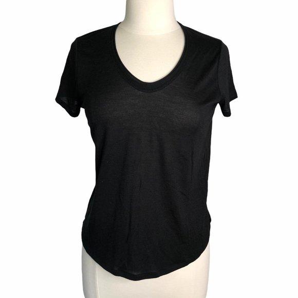 Vince SS t-shirt black vneck medium